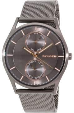 Skagen Holst Multi-Function Grey Dial Stainless Steel Mesh Unisex Watch SKW6180