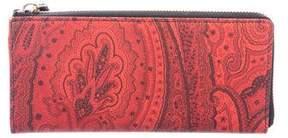 Etro Paisley Coated Canvas Wallet
