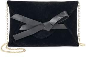 La Regale Lenore By Lenore by Bow Accent Velvet Envelope Clutch