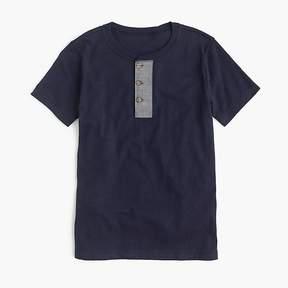J.Crew Boys' short-sleeve henley shirt in slub cotton