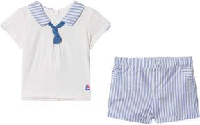 Mayoral Blue Striped Sailor Collar and Shorts Set