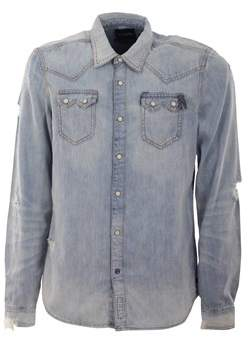 Scotch & Soda Men's Grey Cotton Shirt.