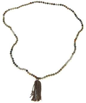 Chan Luu Labradorite and Mixed Stone 34 Tassel Necklace