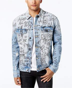 GUESS Men's Graffiti Denim Jacket