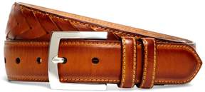 Brooks Brothers Fish Tail Braided Leather Belt
