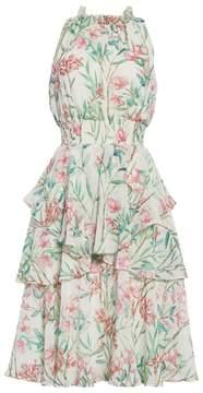 Eliza J Chiffon Fit & Flare Dress