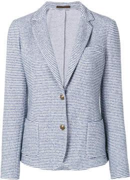 Eleventy striped button jacket