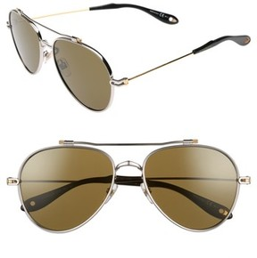 Givenchy Women's 58Mm Aviator Sunglasses - Silver