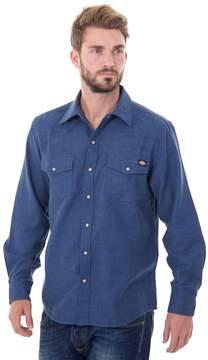 Dickies Men's Solid Flannel Shirt