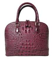 Tiffany & Co. & Fred Alligator Embossed Leather Satchel.