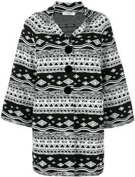 Charlott patterned oversized coat