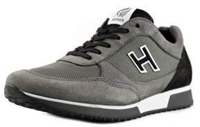 Hogan H198 N Modello Round Toe Suede Sneakers.