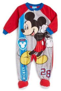 AME Sleepwear Baby Boy's Mickey Footie Pajamas