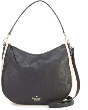 Kate Spade Jackson Street Collection Mylie Colorblocked Hobo Bag - BLACK/SOFT PORCELAIN - STYLE