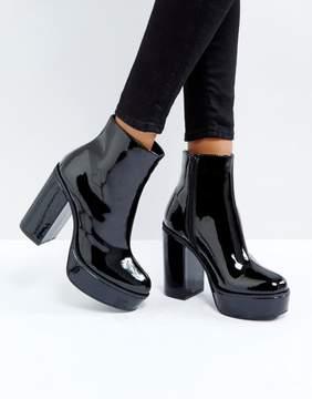 London Rebel Patent Platform Boots
