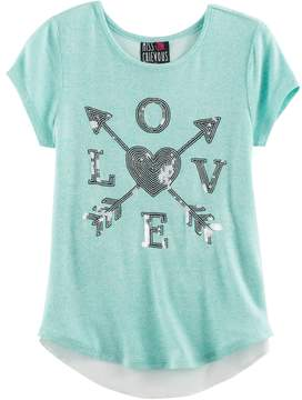 Miss Chievous Girls 7-16 Bow Back Tulip Hem Hatchi Top