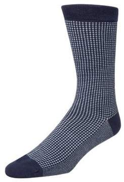 Cole Haan Mini Check Neat Crew Socks