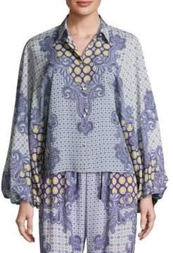 Alexis Keren Printed Cotton Top