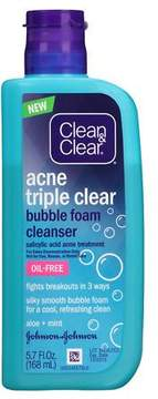 Clean & Clear Triple Clear Bubble Foam Cleanser