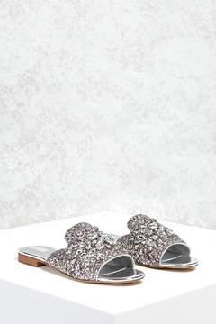 Forever 21 Rhinestone Loafer Slides