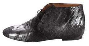 Etoile Isabel Marant Ponyhair Round-Toe Ankle Boots
