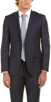 English Laundry 2Pc Wool Suit With Flat Pant