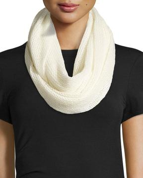 Neiman Marcus Cashmere Air Eternity Scarf, Ivory