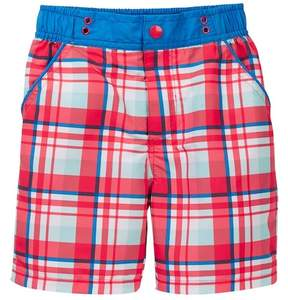 Andy & Evan Plaid Swim Trunks (Toddler & Little Boys)