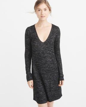 Abercrombie & Fitch Cozy V-Neck Dress