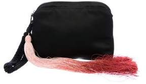 The Row Tassel-Accented Satin Wristlet