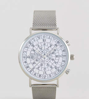 Reclaimed Vintage Inspired Ancient Date Mesh Watch In Silver Exclusive To ASOS