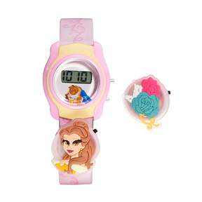 Disney Disney's Beauty & The Beast Belle Kids' Digital Charm Watch