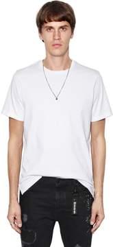 The Kooples Skull Necklace & Heavy Jersey T-Shirt