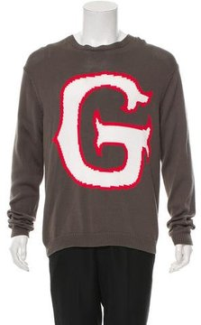 Julien David Intarsia Crew Neck Sweater w/ Tags