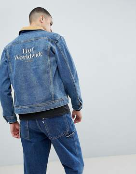 HUF Brooklyn Denim Jacket With Embroidered Back