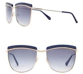 Balmain Clubmaster 56mm Metal Frame Sunglasses