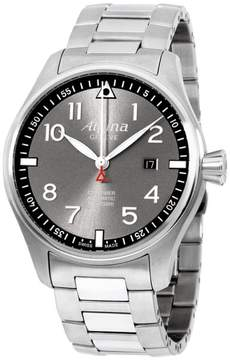 Alpina Sartimer Pilot AL525GB4S6 Grey Dial Stainless Steel 44mm Mens Watch