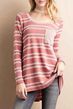 Easel Rib Knit Tunic