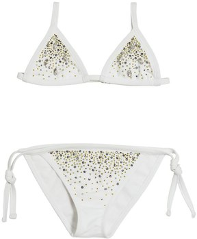 Miss Blumarine Rhinestone Embellished Lycra Bikini