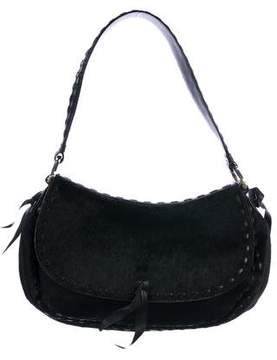 Oscar de la Renta Leather-Trimmed Ponyhair Bag
