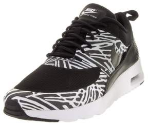 Nike 599408-010:Air-Max Sole Thea-Print BLACK/White Casual Fashion Sneaker WOMEN (Black/Black/White/Mtllc Slver, 5 B(M) US)