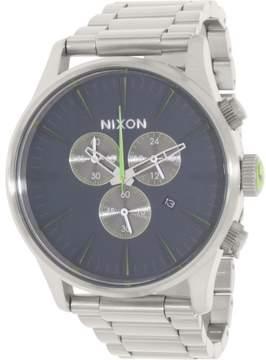 Nixon Men's Sentry A3861981 Silver Stainless-Steel Quartz Dress Watch