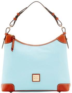 Dooney & Bourke Pebble Grain Hobo Shoulder Bag - PALE BLUE - STYLE