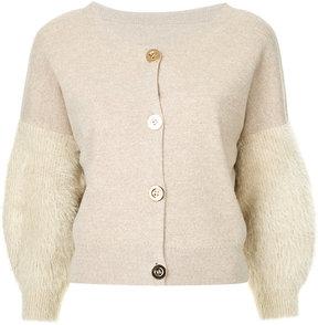 CITYSHOP furry sleeves cardigan