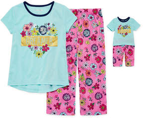 Asstd National Brand 2pc. Pant Pajama Set Girls & Doll PJs