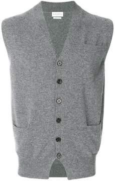 Ballantyne V-neck knitted gilet