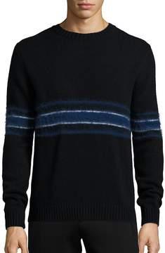 Plac Men's Retro Spectrum Striped Mohair & Wool Blend Sweater