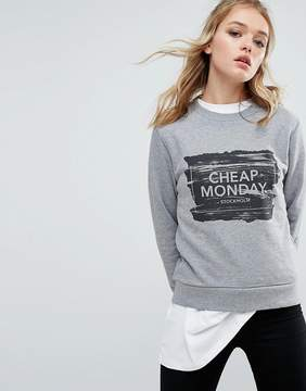 Cheap Monday Paint Brush Logo Sweatshirt