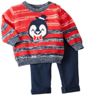 Petit Lem Newborn/Infant Boys) Two-Piece Sweater & Pants Set