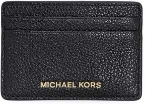 Michael Kors Money Pieces Leather Card Holder- Black - ONE COLOR - STYLE